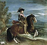 Oil Painting 'Velazquez Diego Rodriguez De Silva Y Felipe IV On Horseback 1631 36' 8 x 8 inch / 20 x 21 cm , on High Definition HD canvas prints, gifts for Dining Room, Game Room And Home Offi decor