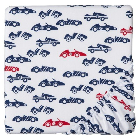 Circo Rah Rah Racer Fitted Crib Sheet - 1
