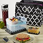 Signature Collection Sydney Designer Bag with Matching Lunch Set (Black & White Ikat Tile)