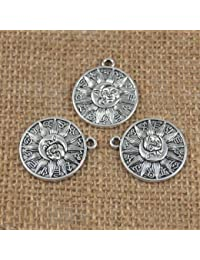Banggood 20Pcs Silver Moon & Stars Pendant Charms Beads DIY Jewelry Making Findings