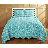 Be-you-tiful Home CC728T Ika Jaipuri Printed Quilt Set Twin