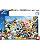 Educa - 11978 - Puzzle Adulte Wd 1000 pièces - Le Monde Merveilleux De Disney