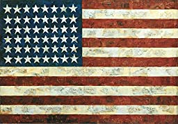 36W x 25H Flag, 1954 by Jasper Johns - Stretched Canvas w/ BRUSHSTROKES