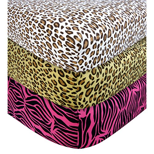 Trend Lab Crib Sheet - Leopard front-254109