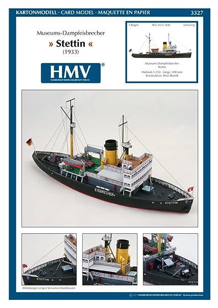 Maquette en carton : Bateau : Steamicebreaker Stettin