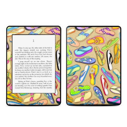 Flip Flops Design Protective Decal Skin Sticker For Amazon Kindle Paperwhite Ebook Reader (2-Point Multi-Touch) front-1033723
