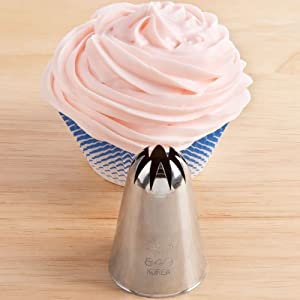 Ateco # 849 - Closed Star Pastry Tip .69'' Opening Diameter- Stainless Steel by Ateco (Color: Silver, Tamaño: large)