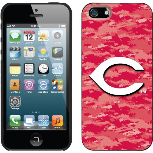 Great Price Cincinnati Reds - Digi Camo Color design on a Black iPhone 5s / 5 Thinshield Snap-On Case by Coveroo