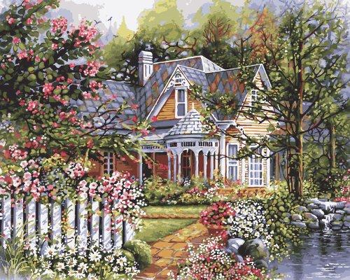 Bucilla 21676 Paint by Number, Victorian Garden