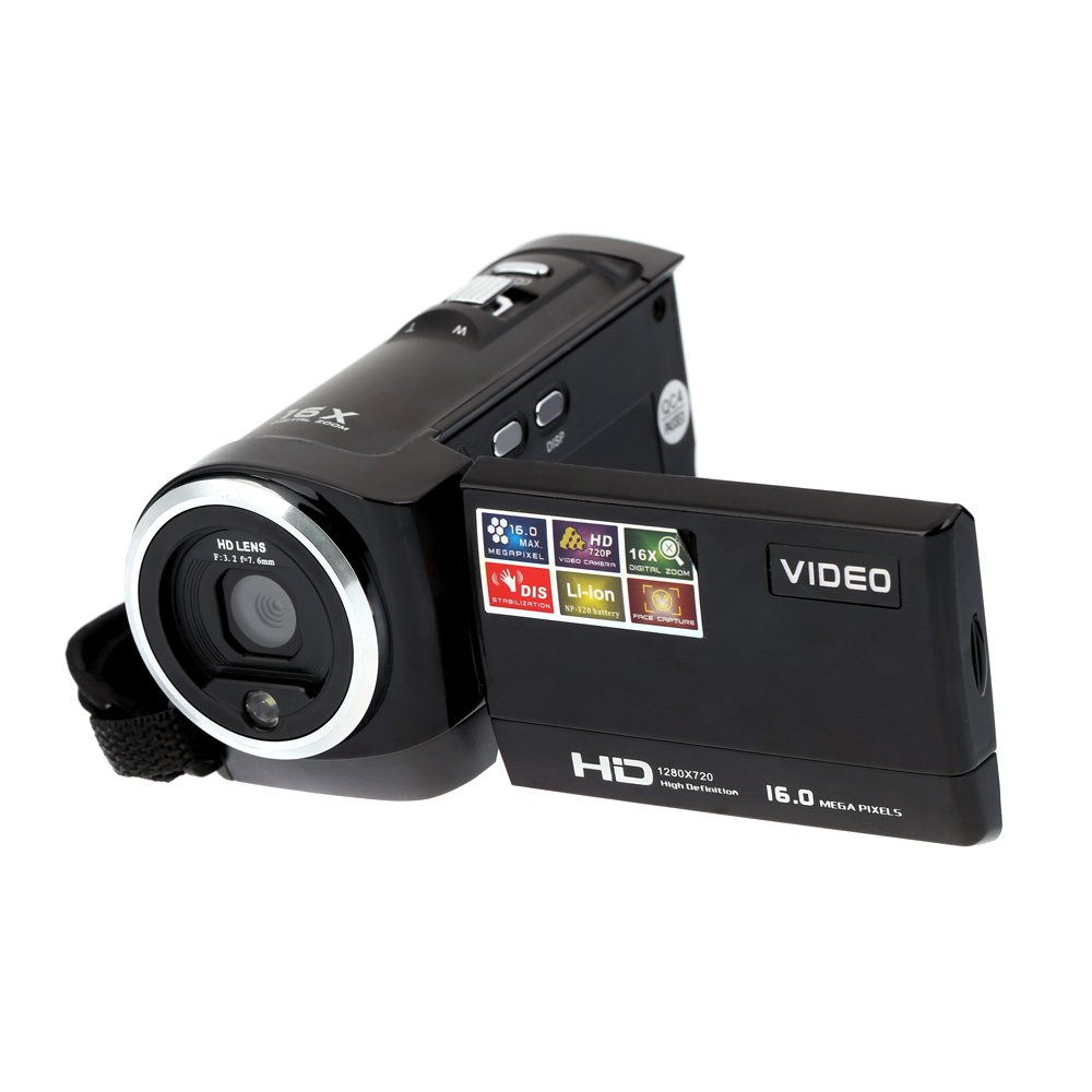 Andoer HDV-107 Digital Video Camcorder Camera HD 720P 16MP DVR 2.7