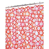 InterDesign Ringo Shower Curtain, Red and Orange, 72-Inch by 72-Inch