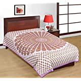 Art Bazar Set Of 1 Single Cotton Printed Bed Sheet WithOut Pillow Covers