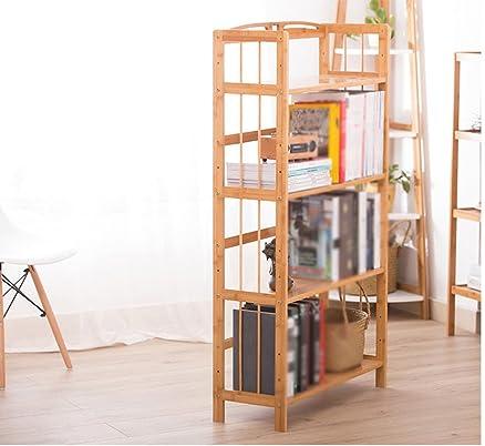 DFHHG® Semplice Bookshelf Bamboo Landing Bookshelf Libreria in legno massiccio Thicker Ampliata rack di bambù ripiano Forte e durevole ( Colore : #1 )