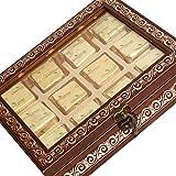 Ghasitaram Gifts Diwali Gifts Chocolates- Brown 12 Pcs Metal Box