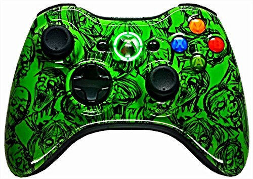 5,500+ Mode Modded Gaming Controller Xbox 360 & Pc In Custom Painted Hydro Dipped Green Zombies Shell!!! Will Not Chip, Scratch, Or Fade Quick Scope, Drop Shot, Jump Shot, Jitter, Auto Aim, Auto Burst, Quick Aim, Dual/Akimbo, Mimic And More.
