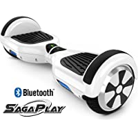 SagaPlay F1 Self Balancing Scooter w/ Bluetooth Speaker (White)