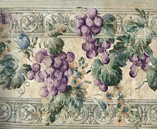 Violet Grapes Wallpaper Border 6000 KH (Kitchen Wallpaper Border Grapes compare prices)
