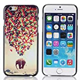 Suppion Brand New Ultrathin Drawing Balloons Elephants Pattern Case Cover for Iphone 6 4.7inch