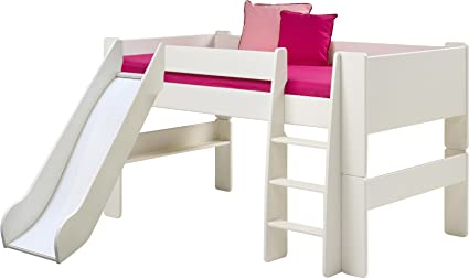 Steens Mid Sleeper Kids Bed with Slide, White