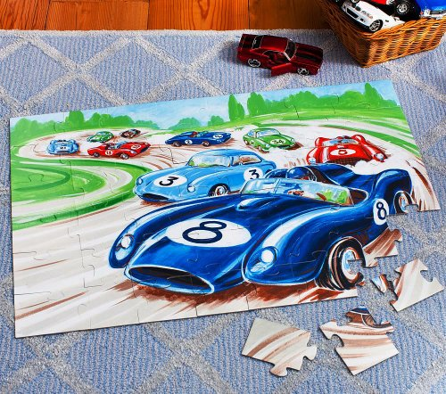 Picture of Pottery Barn Kids Pottery Barn Kids Race Car Floor Puzzle (B005BYX9K8) (Floor Puzzles)