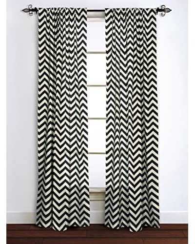 Rizzy Home Black Chevron Window Panel