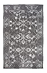 Area Rug, Charcoal/Ivory Vintage Distressed Wool Rugs Carpet, 2-Foot X 4-Foot