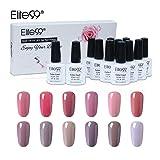 Elite99 Gel Nail Polish Set Soak off UV LED Nail Art Manicure Kit C002 + 50pcs Gel Remover Wraps