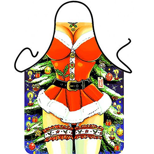 [Follow918 Sexy Christmas Princess Creative Apron Fashion Personality Kitchen Aprons Funny Tricky Cooking Aprons for Male & Female Anime Cosplay Aprons Boyfriend/Girlfriend] (Male Costumes Rocky Horror)