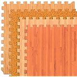 FOREST FLOOR Wood Grain, Cork Grain and Bamboo Grain Interlocking Foam Anti Fatigue Flooring 2'x2' tiles