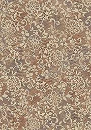 Area Rug, Copper Floral Stain Resistant Carpet, 7\' 10\