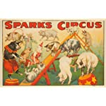 Sparks Circus - Pigs Vintage Poster USA c. 1925 (16x24 Collectible Giclee Gallery Print, Wall Decor Travel Poster)