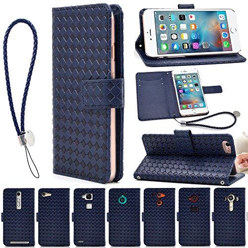 F.G.S iphone 7 plus ケース ストラップ付き iphone 7 plus カバー iphone 7 plus ケース 手帳型 iphone 7 plus カバー 手帳型 iphone 7 plus 手帳型 iphone 7 plus 手帳型ケース スタンド機能付き カードホルダー付き ブルー F.G.S並行輸入品