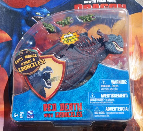 How To Train Your Dragon Movie Series 3 Deluxe 7 Inch Action Figure Red Death with Gronckles