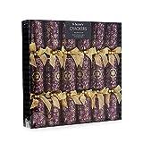 Debenhams Set Of 6 Purple Snowflake Print Luxury Christmas Crackers