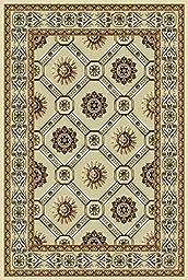 Persian Weavers 5 x 8 Hampton Exotic Chenille Dimensional Rug - Fume & Champagne