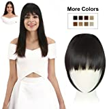 REECHO Fashion One Piece Clip in Hair Bangs / Fringe / Hair Extensions Color: Black Brown