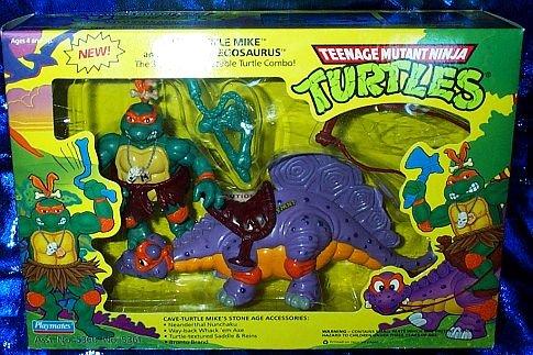 Buy Low Price Playmates Teenage Mutant Ninja Turtles Cave-Turtle Mike and Silly Stegosaurus 4″ Figure Set (B000VWJMRE)