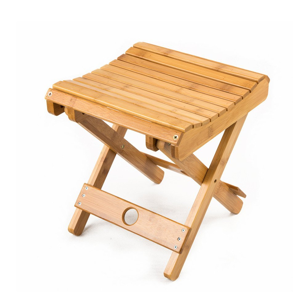Bamboo Shower Stool Seat Spa Bathroom Kids Home Patio