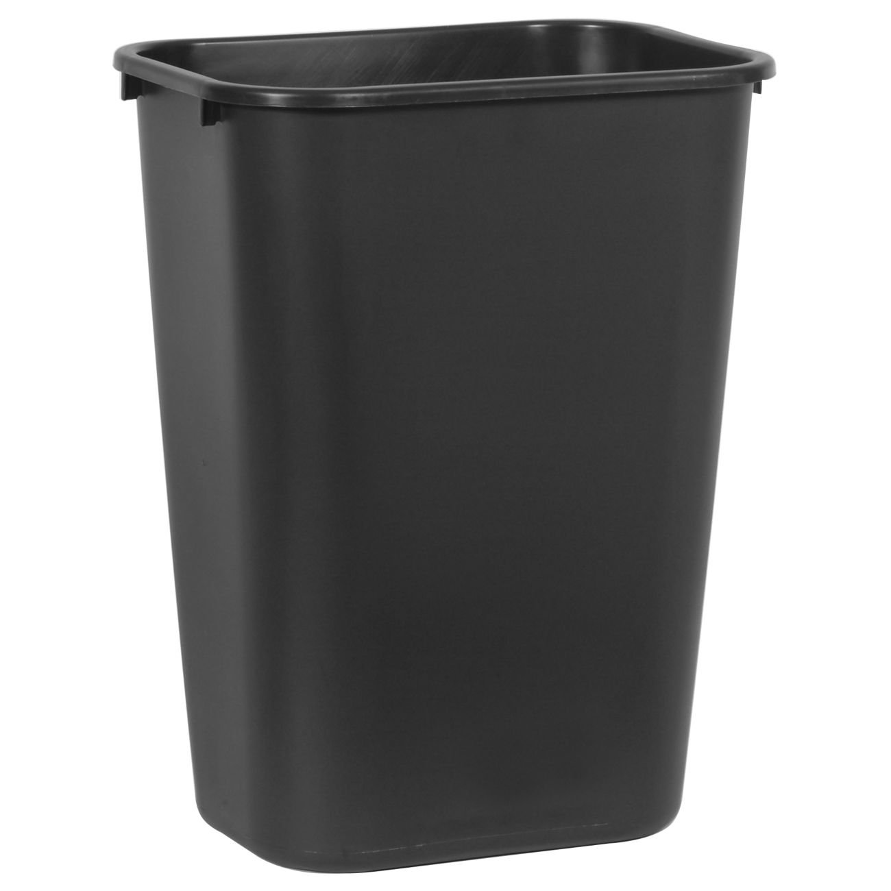 RUBBERMAID COMMERCIAL PRODUCTS Rubbermaid Commercial Soft Molded Plastic 10.25-Gallon Trash Can, Rectangular, Black at Sears.com