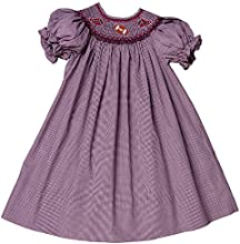 Rosalina Little Girl39s Smocked Football Bishop