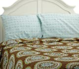 RAMPAGE Medallion Cocoa 5-Piece Sheet Set and Comforter, Queen