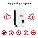 US Plug Pest Control Ultrasonic Repellent with Night Light, Electronic Home Non-Toxic Anti Insects Pest Killer for Mosquito,Roaches,Rodents,Rats,Flies,Ants,Spiders,Fleas,Mouse,Cockroches and Bugs (Color: White)