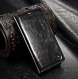 FLY SELINA Samsung Galaxy S5 ケース 高級 本格レザー 手帳型 横開き カバー 革 マグネット式 カード収納 スタンド機能 ギャラクシー S5 財布型カバー おしゃれ ブラック