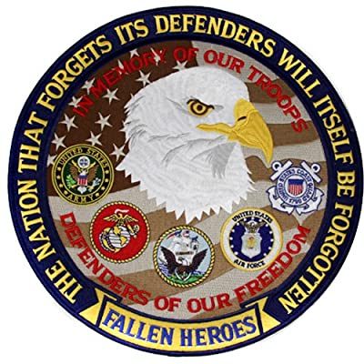 All Fallen Heroes Embroidered Patch Military Collectibles, Patriotic Gifts for Men, Women, Teens, Veterans Great Gift Idea for Wife, Husband, Relative, Boyfriend, Girlfriend, Grandparent, Fiance or Friend. Perfect Christmas Stocking Stuffer or Veterans Da