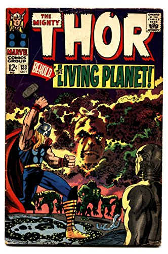 Thor Comics #133 comic book 1966-Marvel Silver Age EGO Living Planet Jack Kirby (Marvel Ego compare prices)