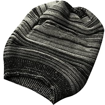 e628ea99690 Generic Unisex Men s Textured Design Stretch Knit Cap Beanie Hat Black  Off-white