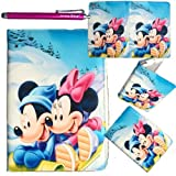 Minnie Mouse Leather Ipad Mini 360 Rotating Case, Cover with FREE Minnie Mouse Jewelry or Keychain (Winter iPad Mini)