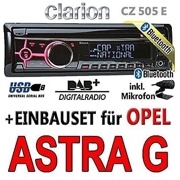 Opel astra g-clarion cZ505E-bluetooth/dAB autoradio avec écran digital