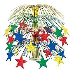 Multicolor Star Cascade Centerpiece