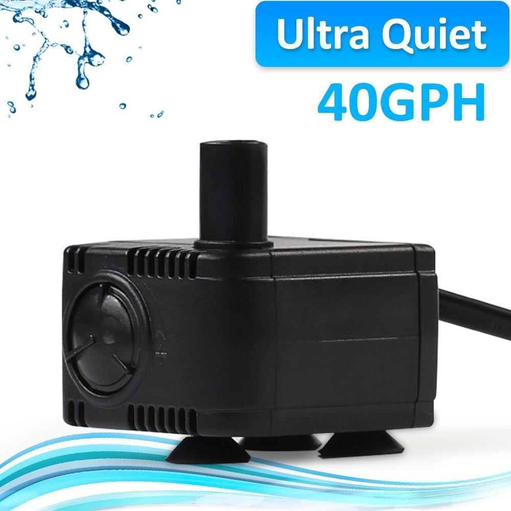 JAD 40 GPH (150L/H) Submersible Water Pump Professional Ultra-quiet water pump for aquarium,garden,pond,fish tank, fountain